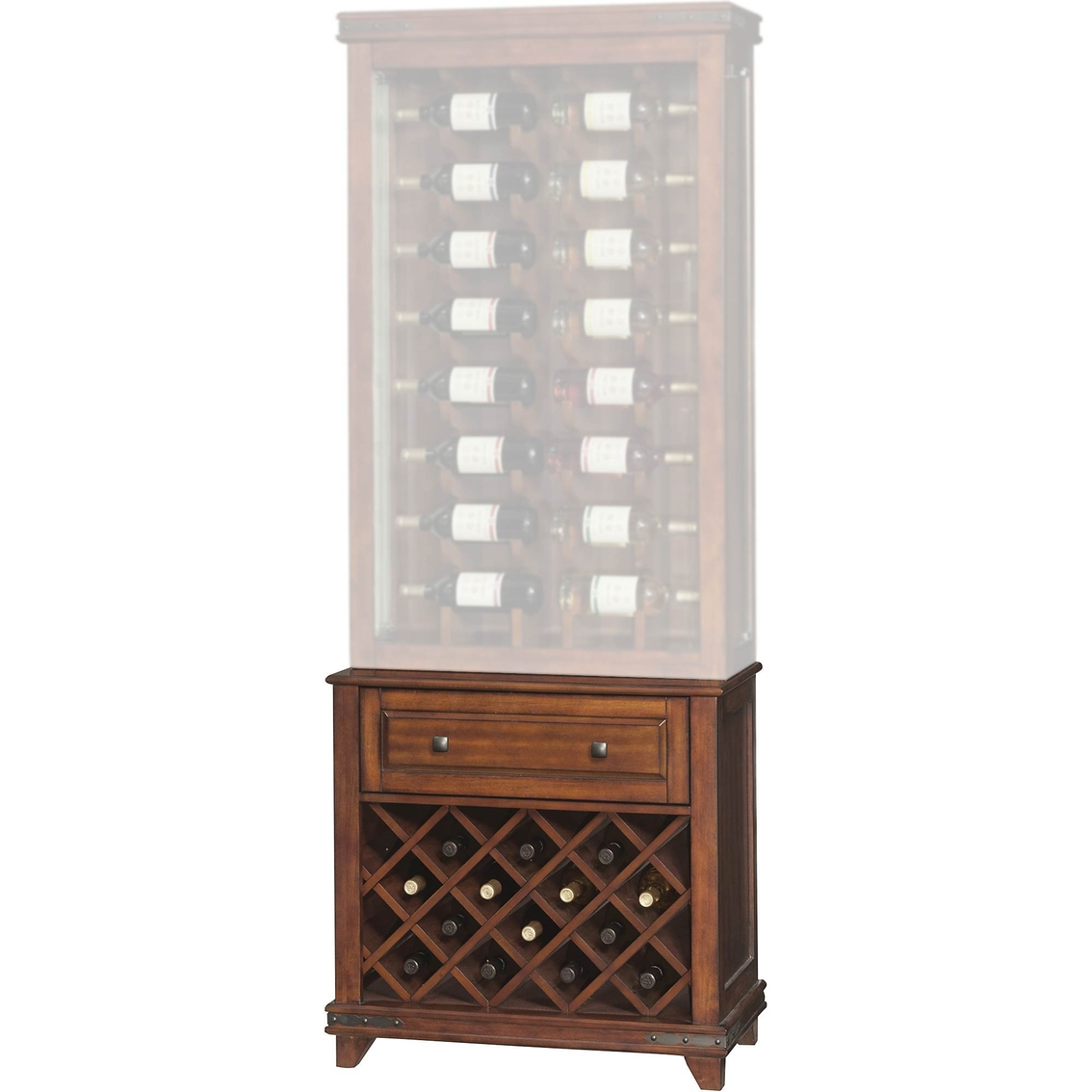 2825  sc 1 st  ShopMyExchange.com & Twin-star International Mayfield Wine Curio Bottom Display Cabinet ...