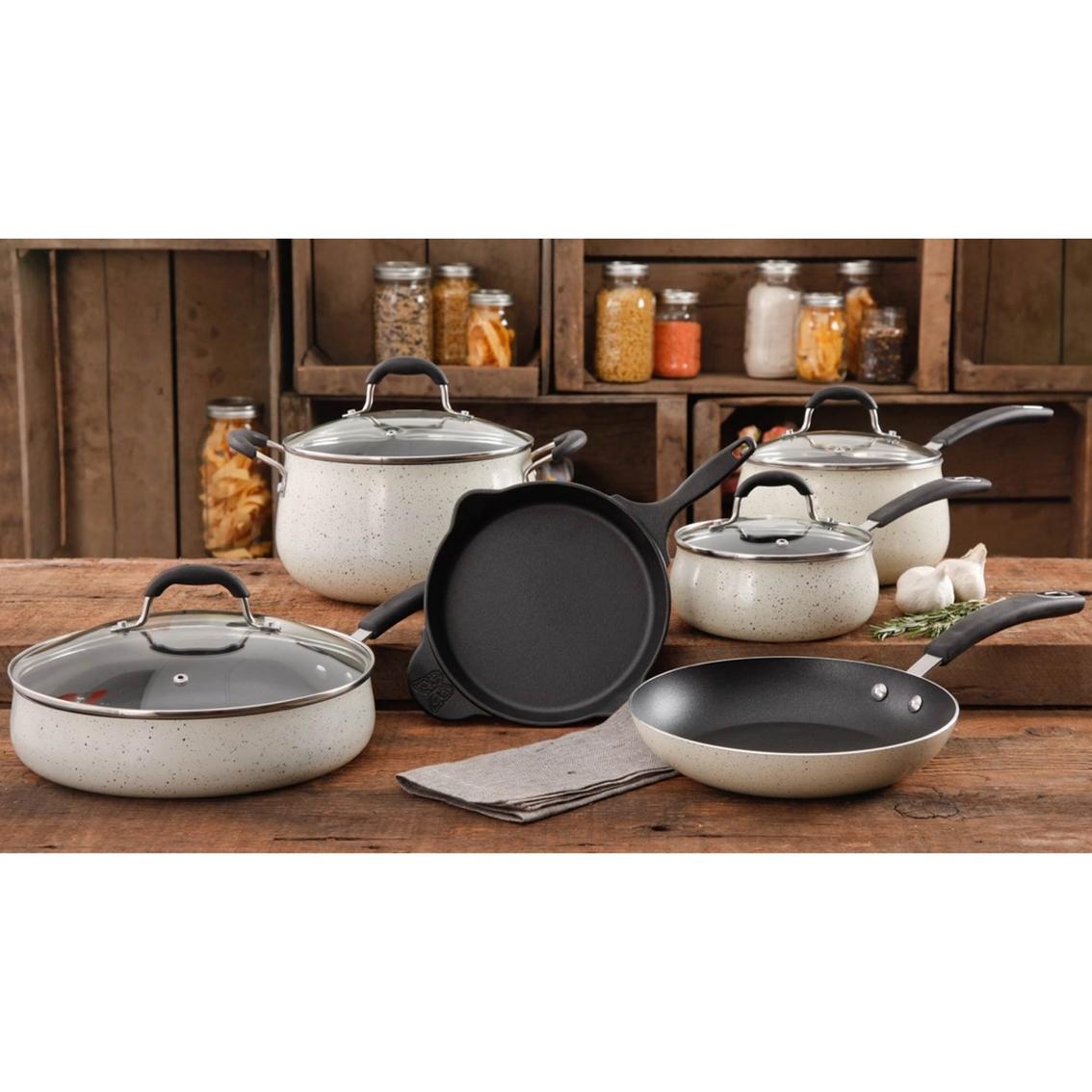 9440f0619ad Pioneer Woman Vintage Enameled Porcelain 10 Pc. Cookware Set ...