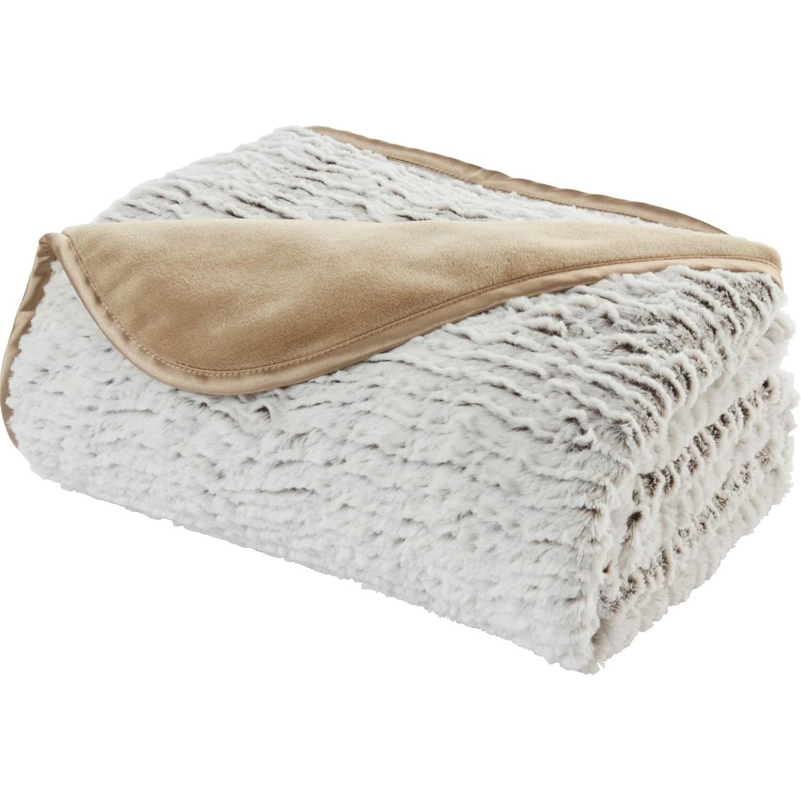 Brookstone Nap Ruffled Throw Non Electric Blankets