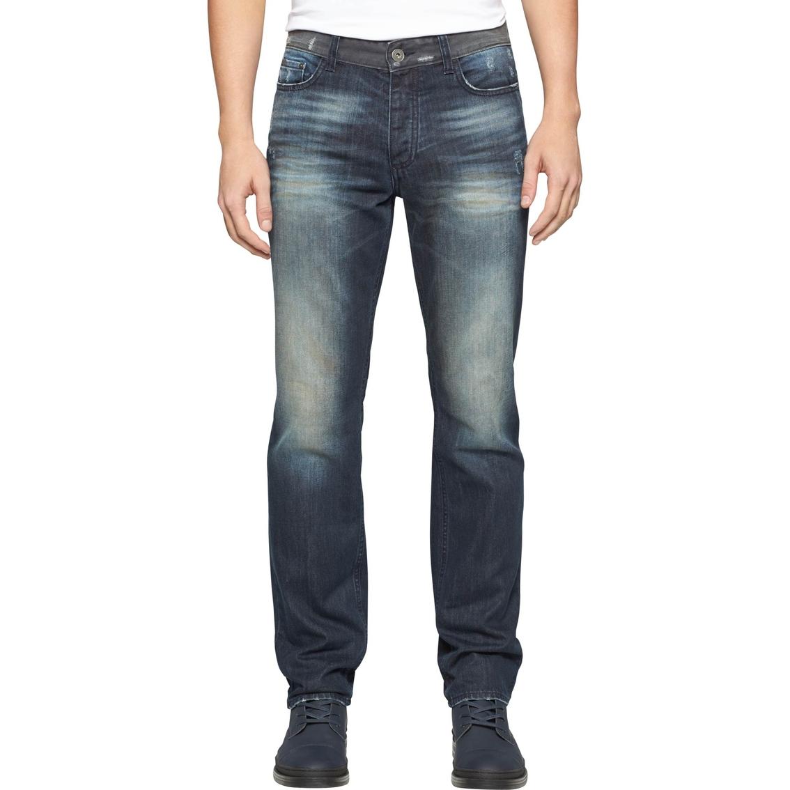 calvin klein jeans slim straight leg jeans jeans. Black Bedroom Furniture Sets. Home Design Ideas