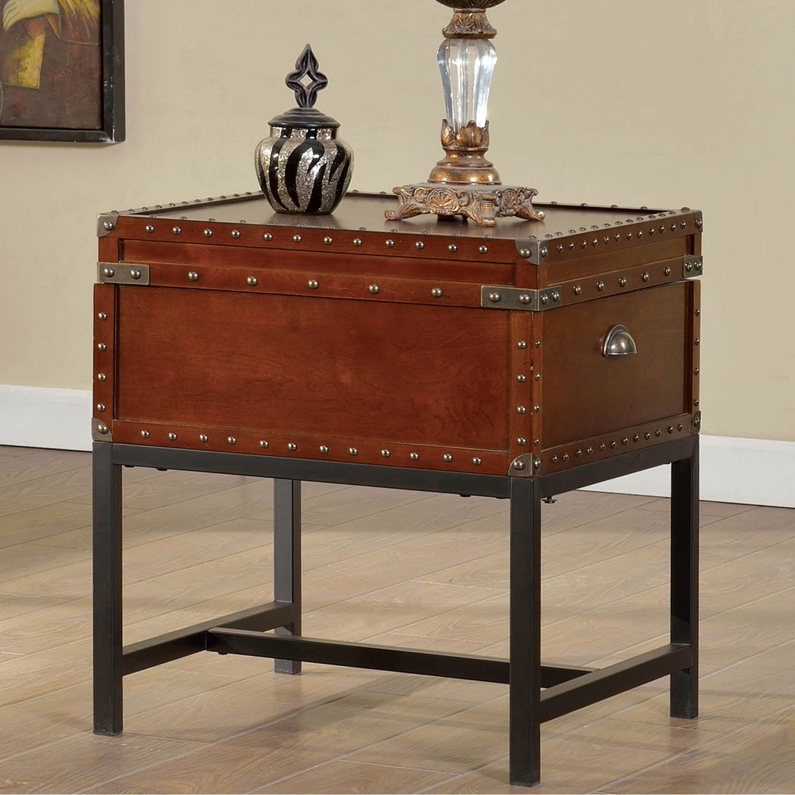 Furniture of america milbank storage end table living for Furniture exchange