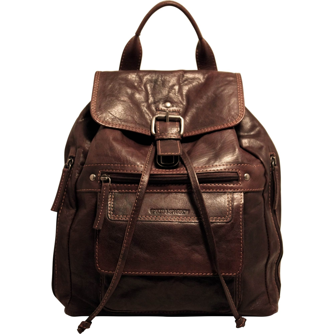 Jack Georges Spikes And Sparrow Leather Backpack