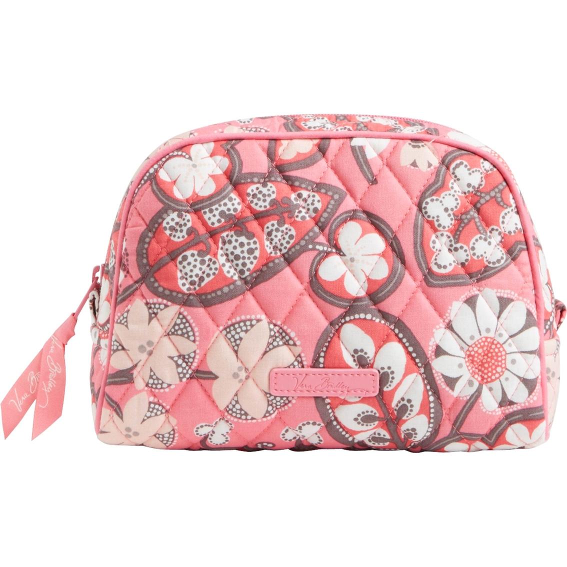 Vera Bradley Medium Zip Cosmetic Bag, Blush Pink