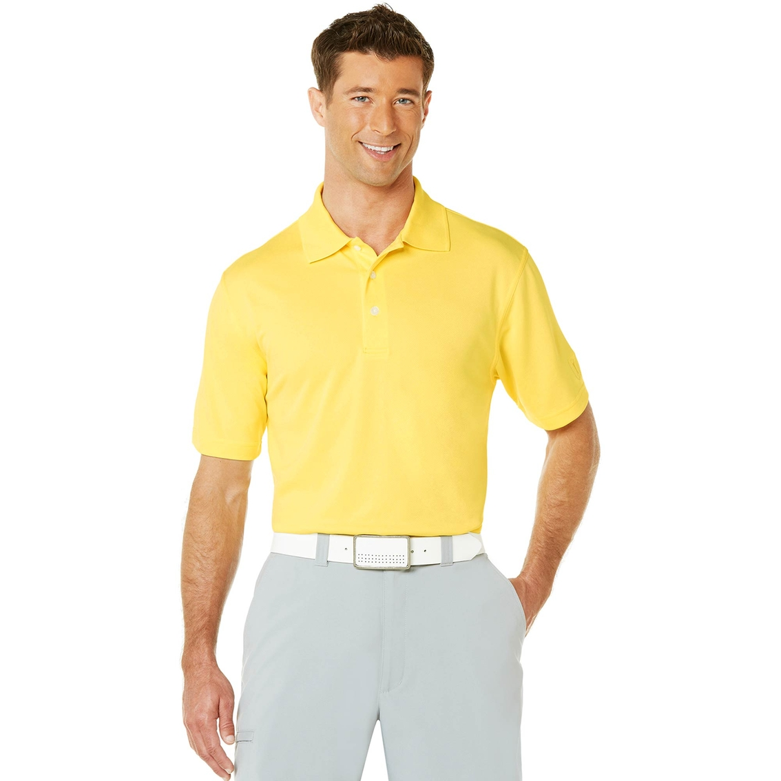 pga tour golf performance airflux solid mesh polo shirt