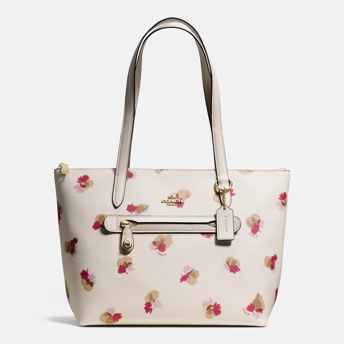Coach Taylor Tote In Floral Print Coated Canvas Totes
