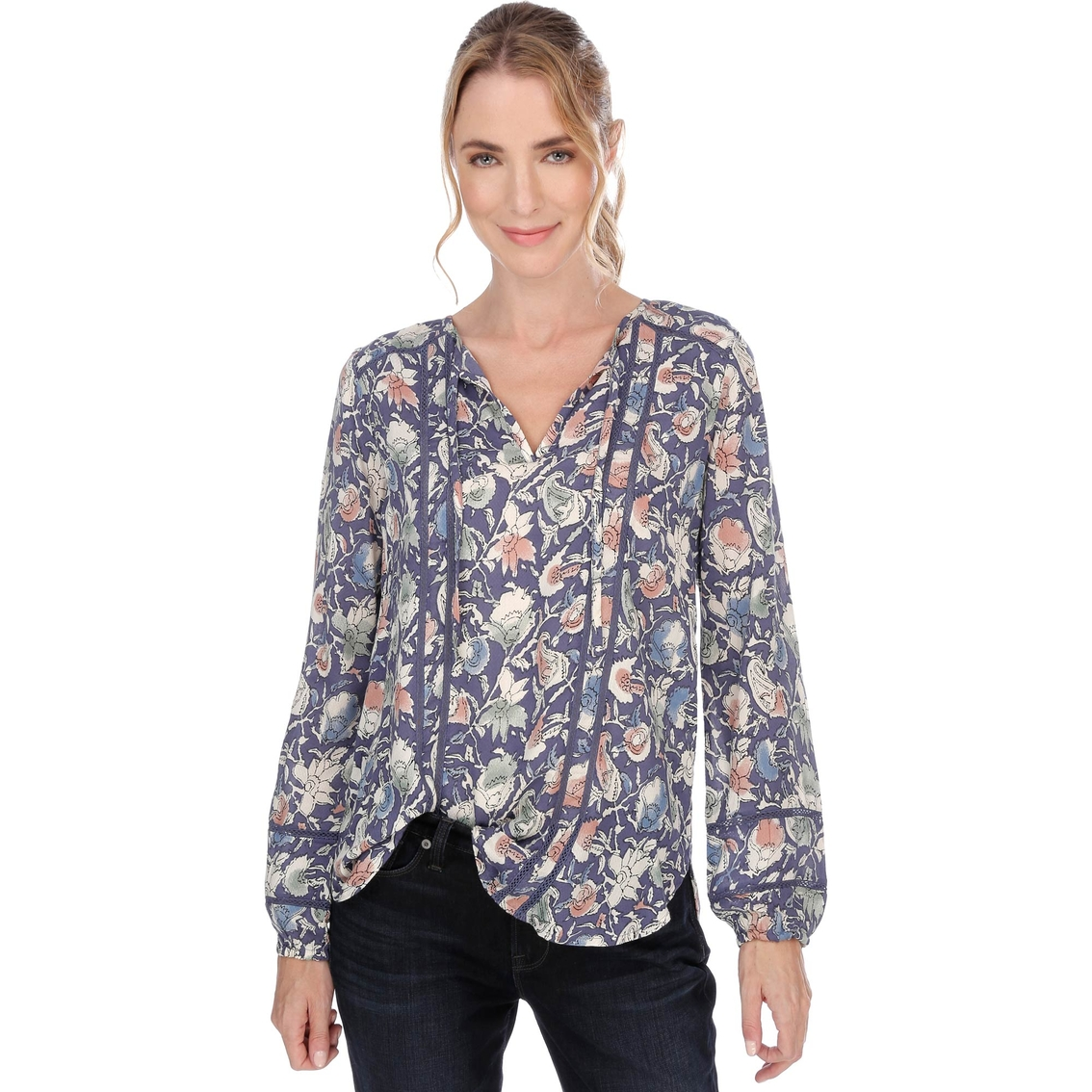 82c56d3c995 Lucky Brand Painted Floral Top