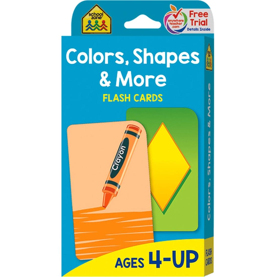 School Zone Colors, Shapes & More Flash Cards | Teacher Aids | More ...