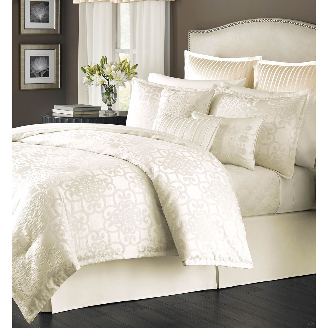 martha stewart collection savannah scroll 22 pc comforter set bedding collections back to. Black Bedroom Furniture Sets. Home Design Ideas