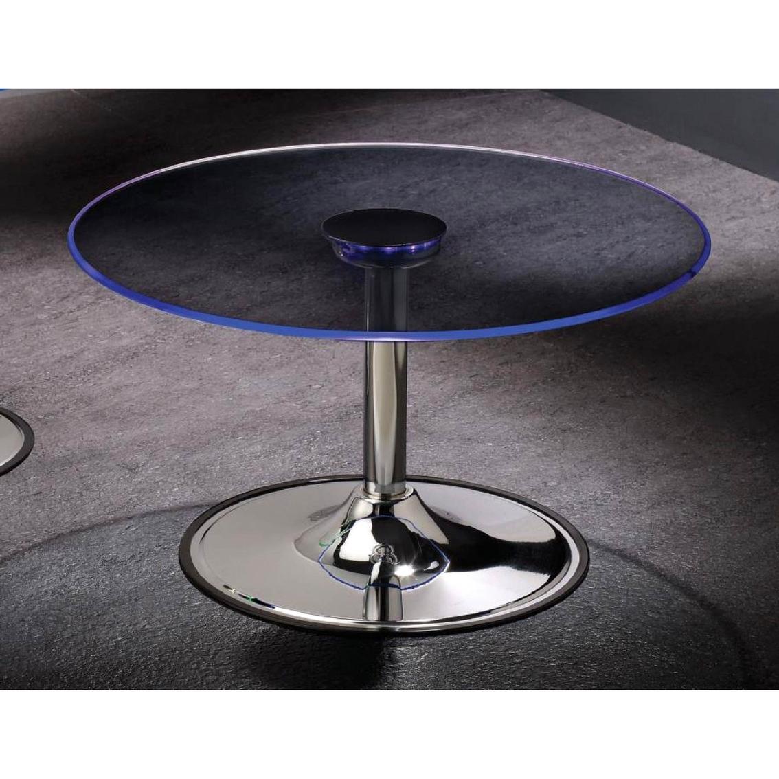 Coaster Led Coffee Table With Chrome Base