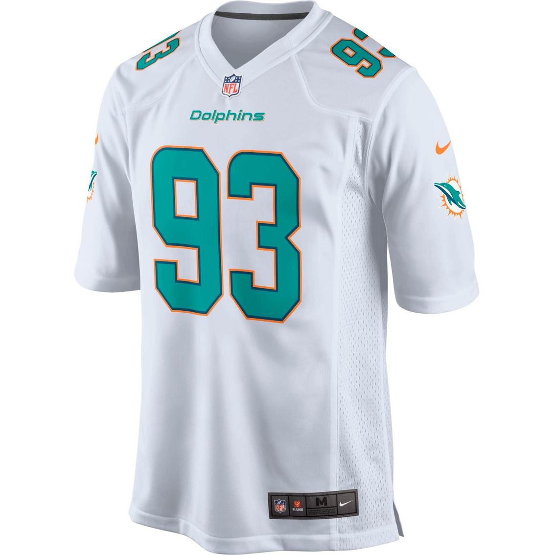 95ab1454618af Nike Nfl Miami Dolphins Men's Ndamukong Suh White Game Jersey ...
