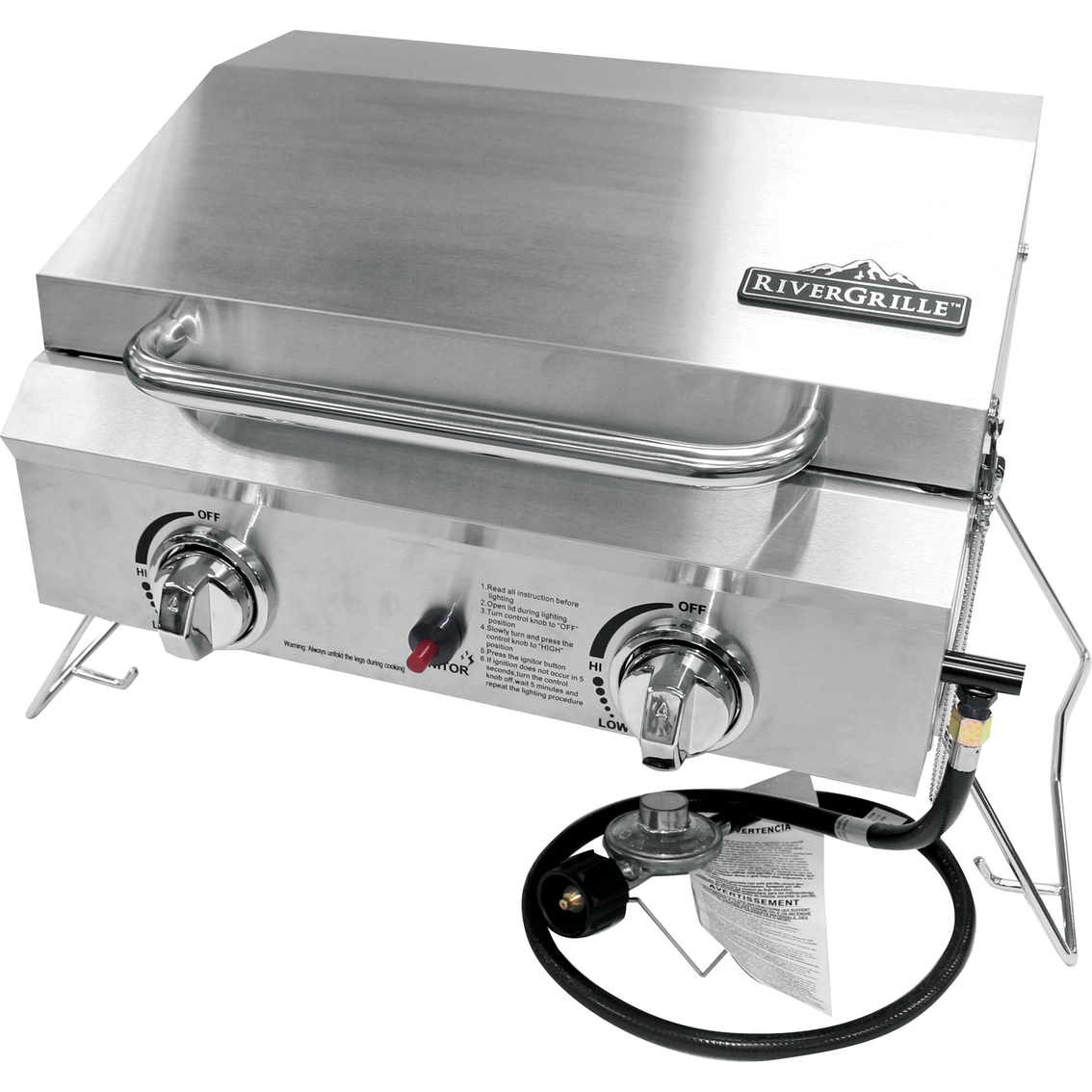 Rivergrille portable burner stainless steel gas grill