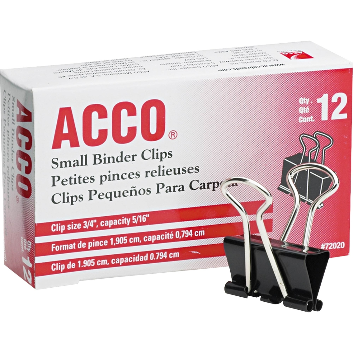 Acco Small Steel Wire Binder Clips 12 Pk.   Tape, Adhesives ...