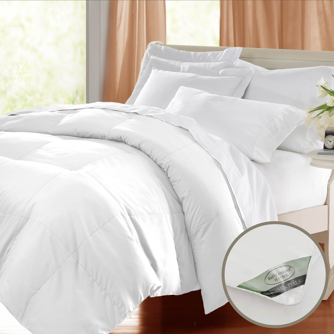 blue ridge kathy ireland essentials microfiber cover down comforter down down alternative. Black Bedroom Furniture Sets. Home Design Ideas