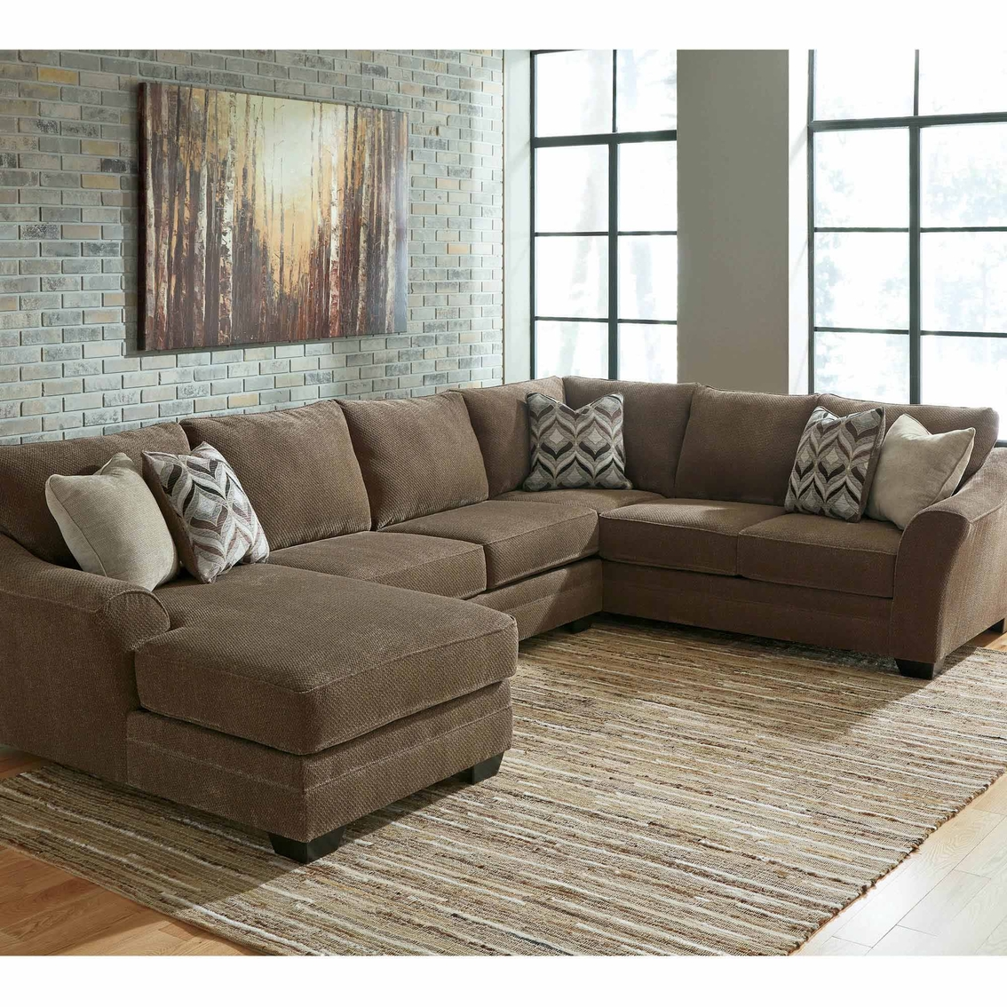 Benchcraft justyna 3 pc sectional with laf corner chaise for 3pc sectional with chaise