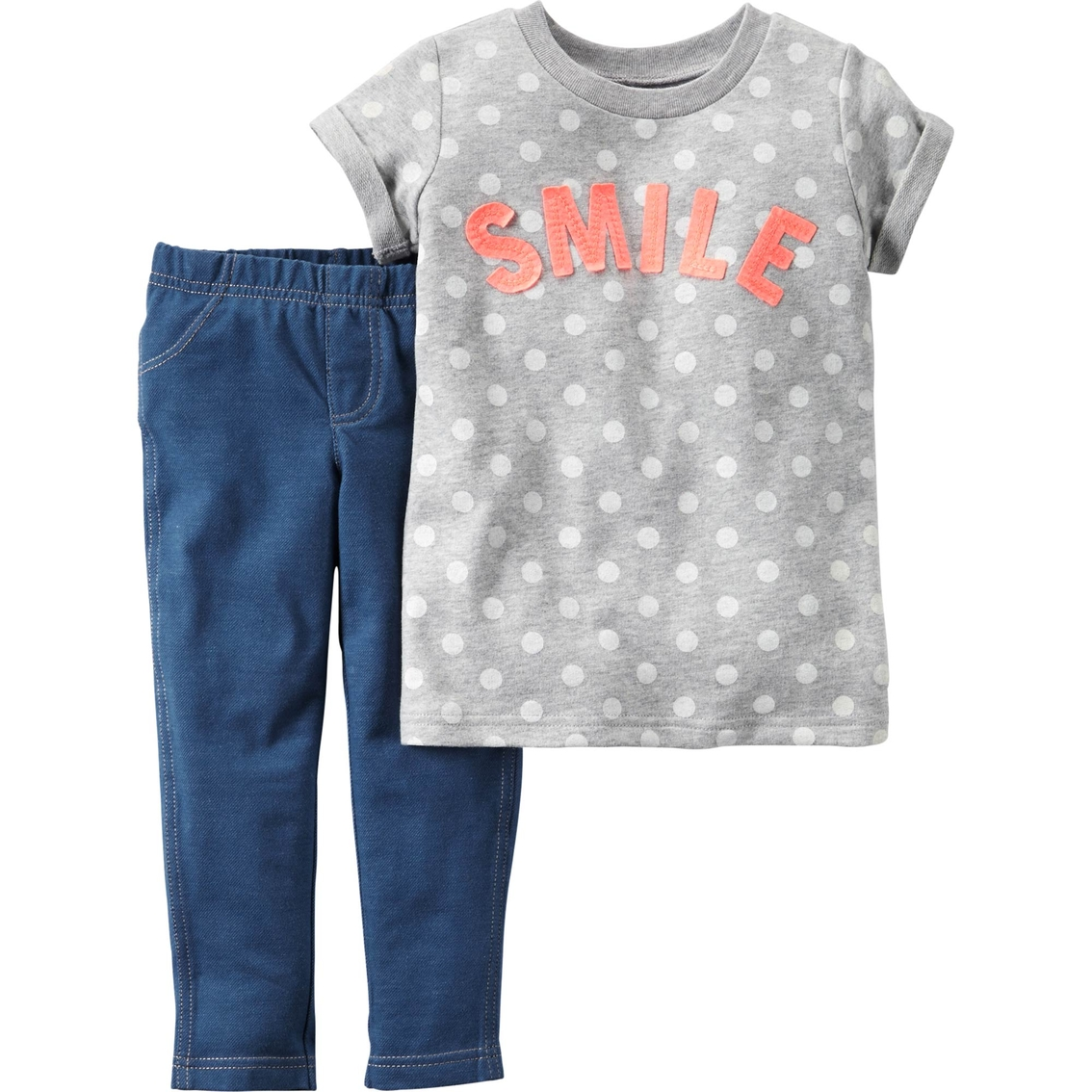 eb7295e7a69d1 Carter's Toddler Girls French Terry Top & Jeggings 2 Pc. Set ...