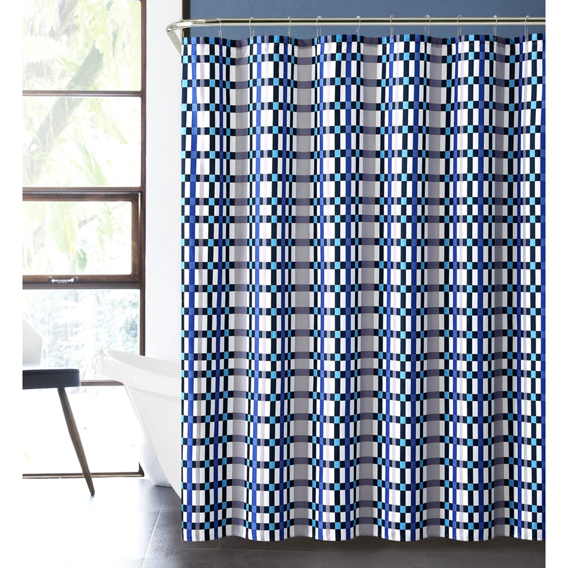 vcny modern boys emmitt 13 pc bath set blue shower