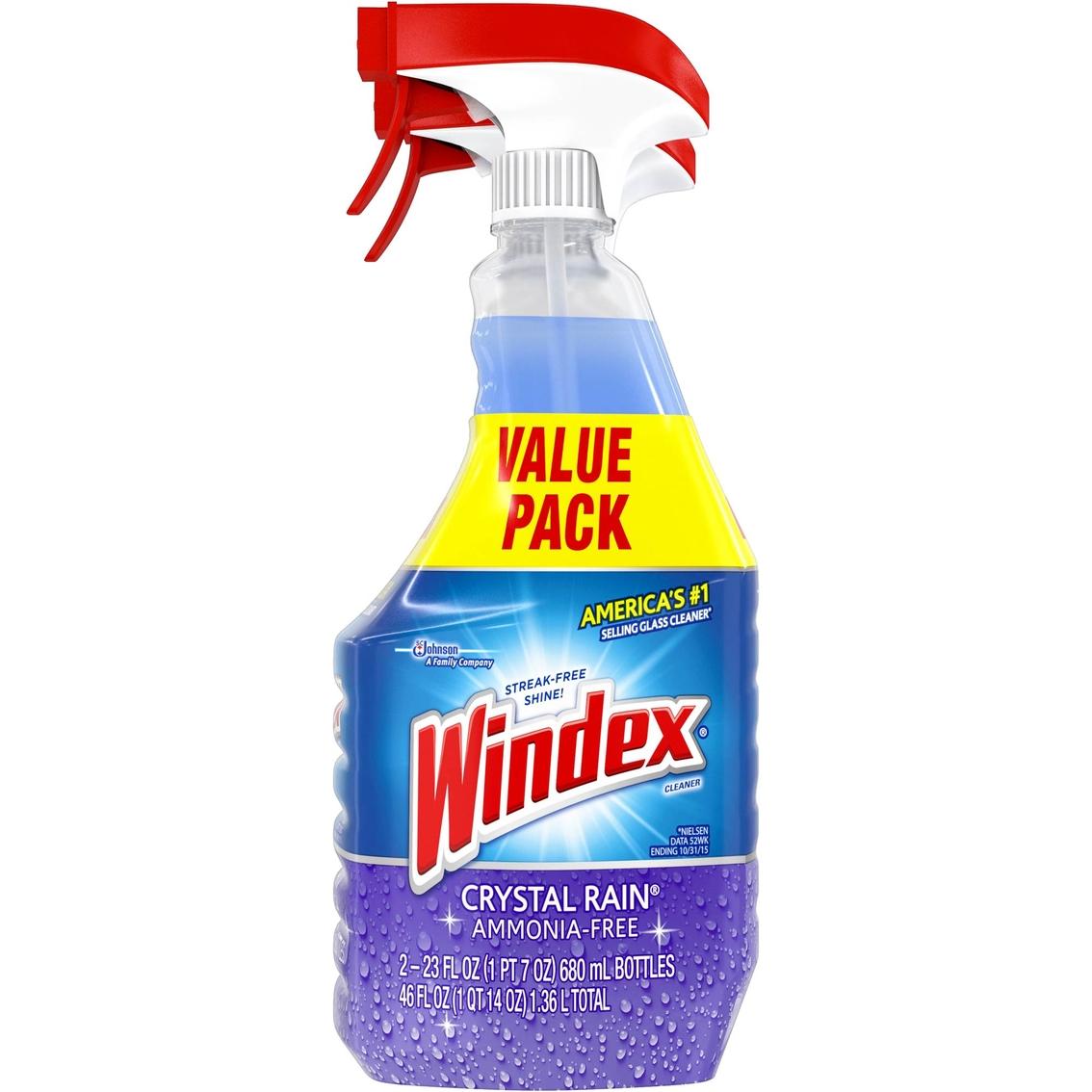 Windex Ammonia Free Crystal Rain Glass Cleaner Value Pack 2 Ct