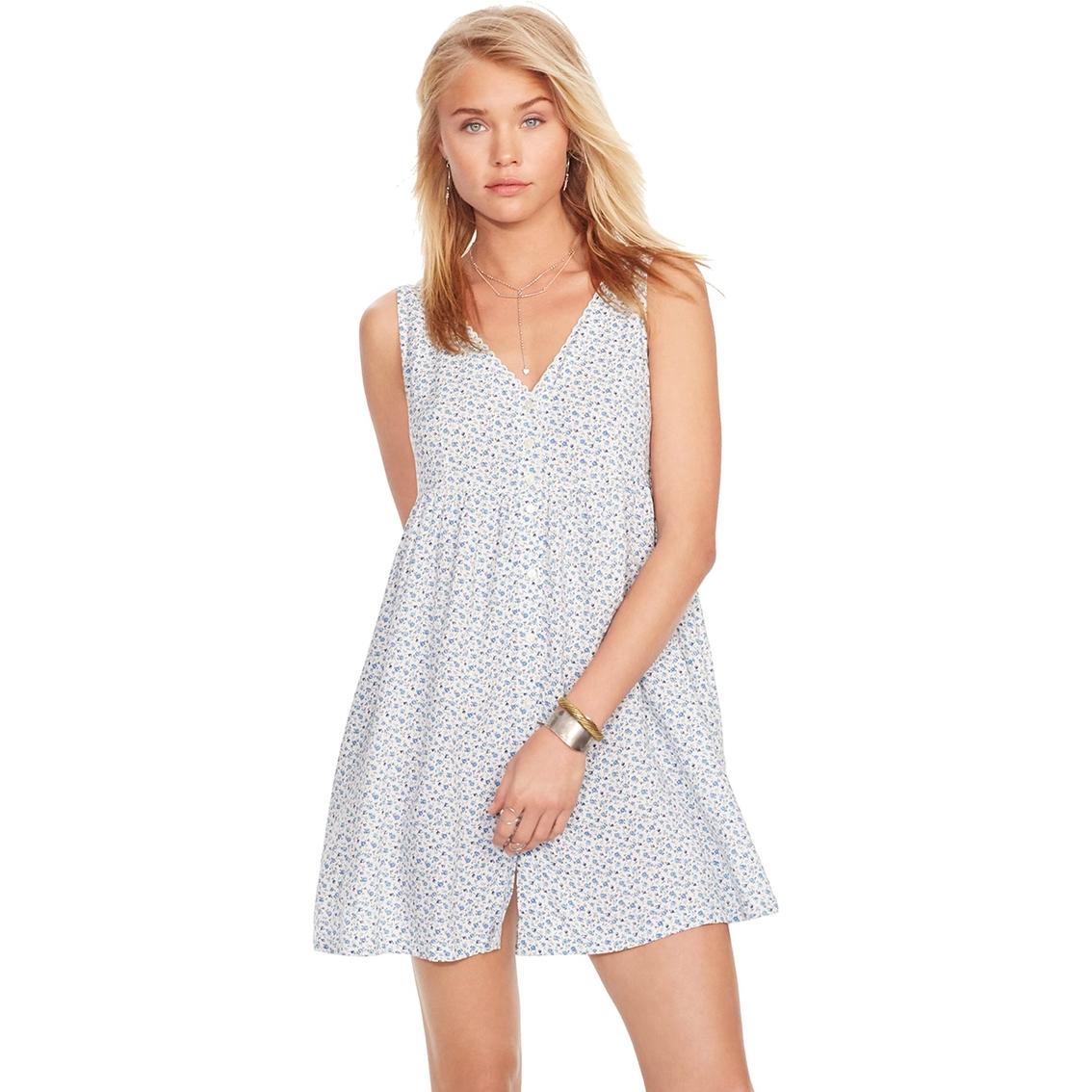Denim Amp Supply Ralph Lauren Floral Button Front Dress
