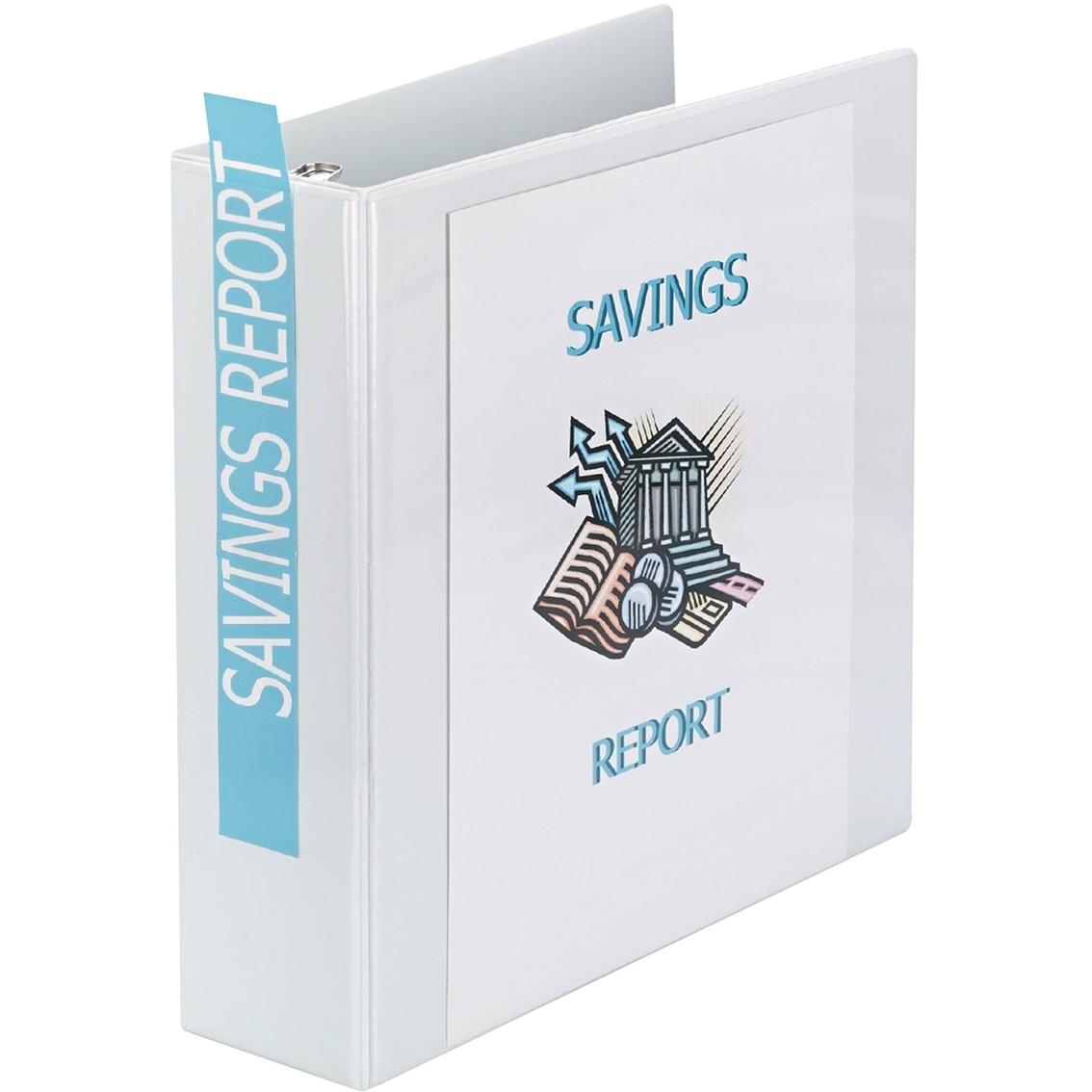 avery showcase economy view round ring 3 in binder white binders
