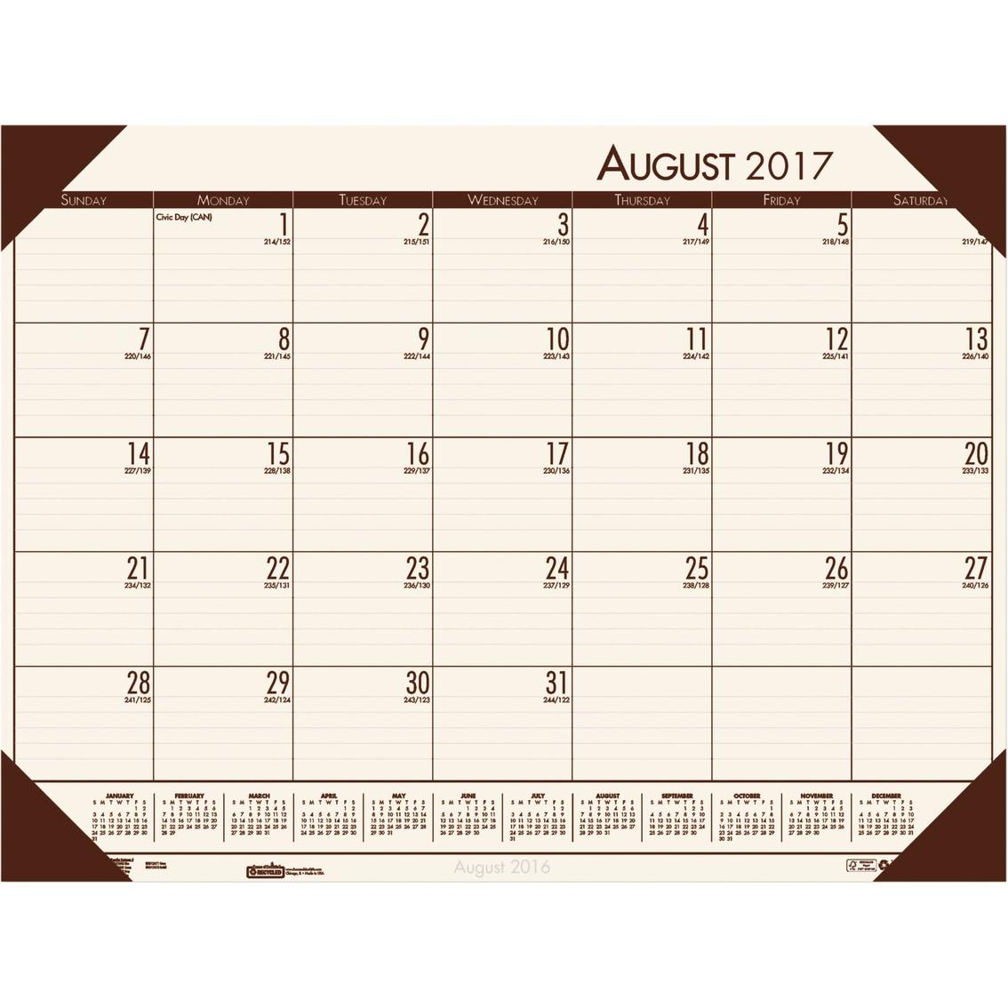 house of doolittle ecotones 2017 2018 academic desk pad calendar