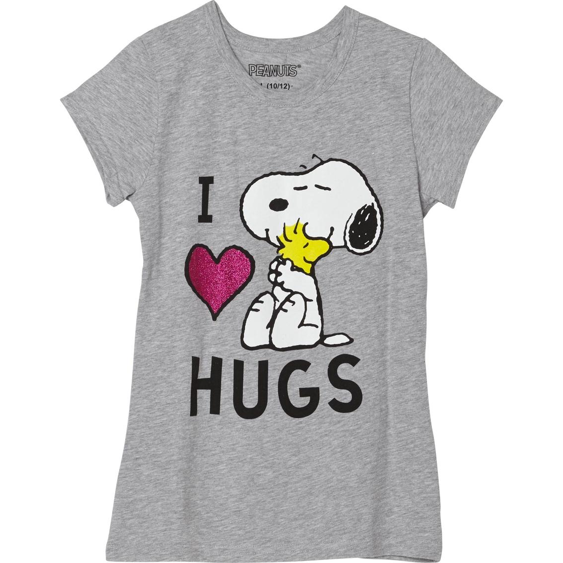f44ead4eaef474 Peanuts Girls Snoopy I Love Hugs Tee | Girls 7-16 | Apparel | Shop ...