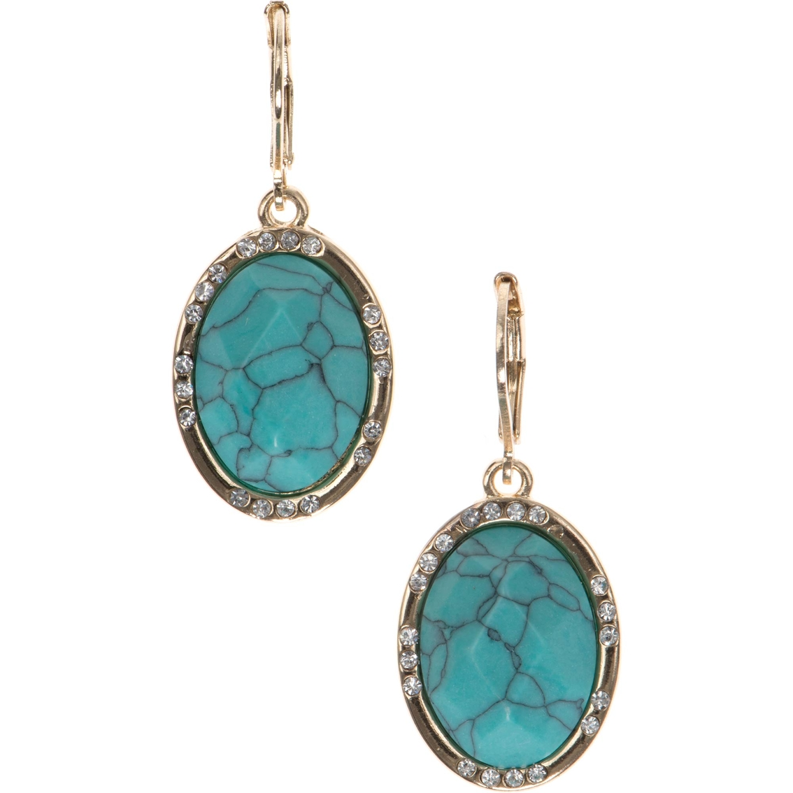 Anne Klein Goldtone Turquoise Drop Earrings