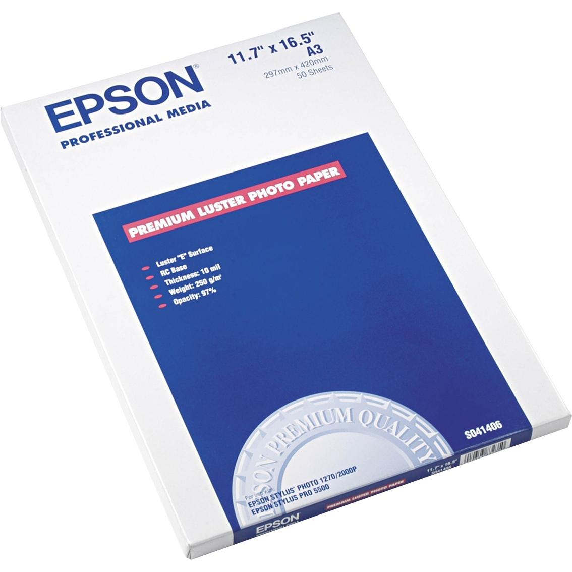 Epson 11 75 X 16 5 In  64 Lb  Ultra Premium Photo Paper 50