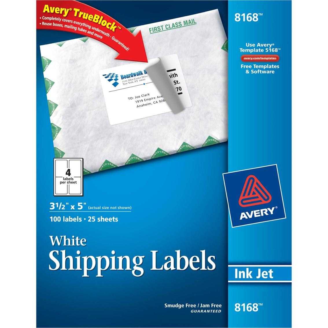 Avery Shipping Labels Ultrahold Trueblock Inkjet 3 12 X 5