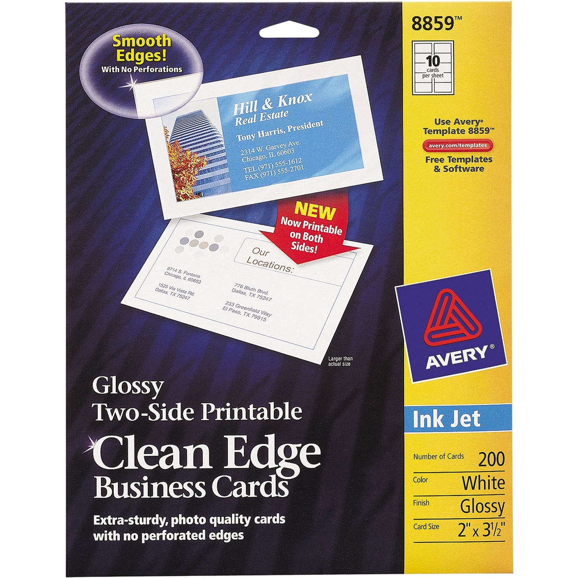 Avery two sided clean edge business cards for inkjet printers 200 pk avery two sided clean edge business cards for inkjet printers 200 pk colourmoves Images