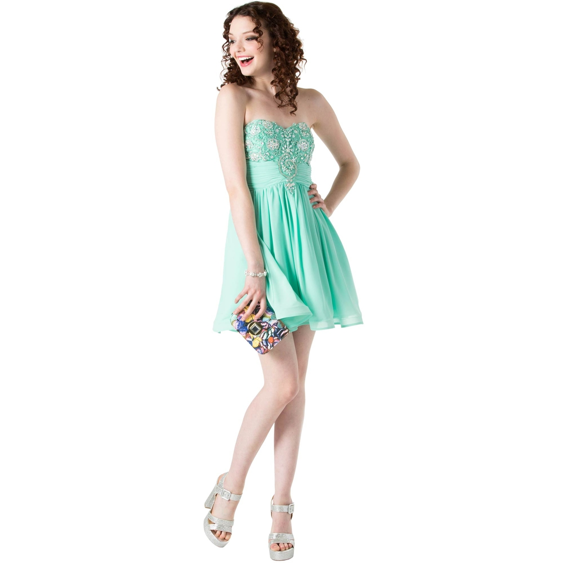 11d672f68 Sequin Hearts Juniors Strapless Beaded Party Dress | Dresses ...