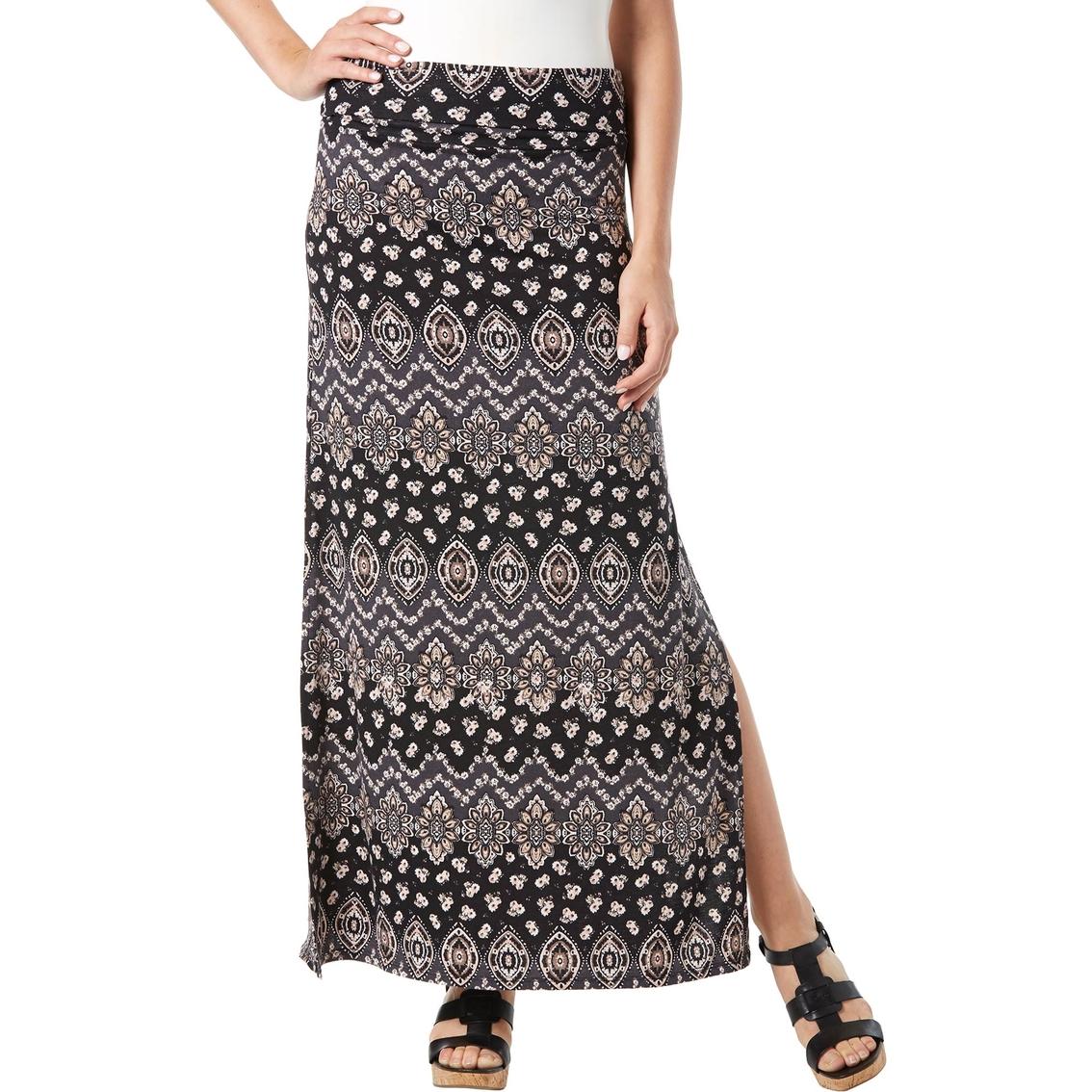 joe b juniors foldover maxi skirt print skirts