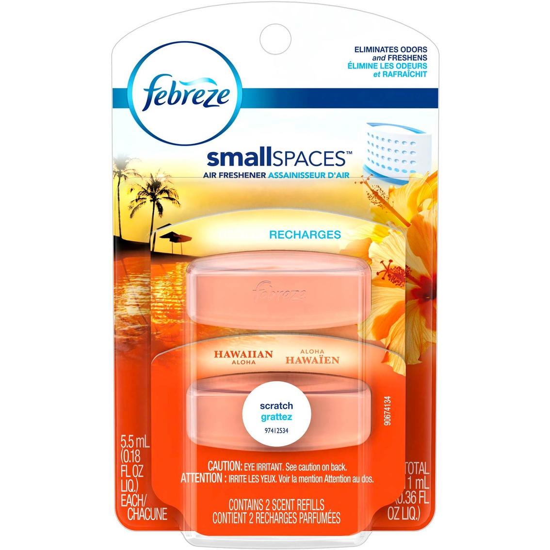 Febreze Small Spaces Hawaiian Aloha Air Freshener Refills 2 Pk ...