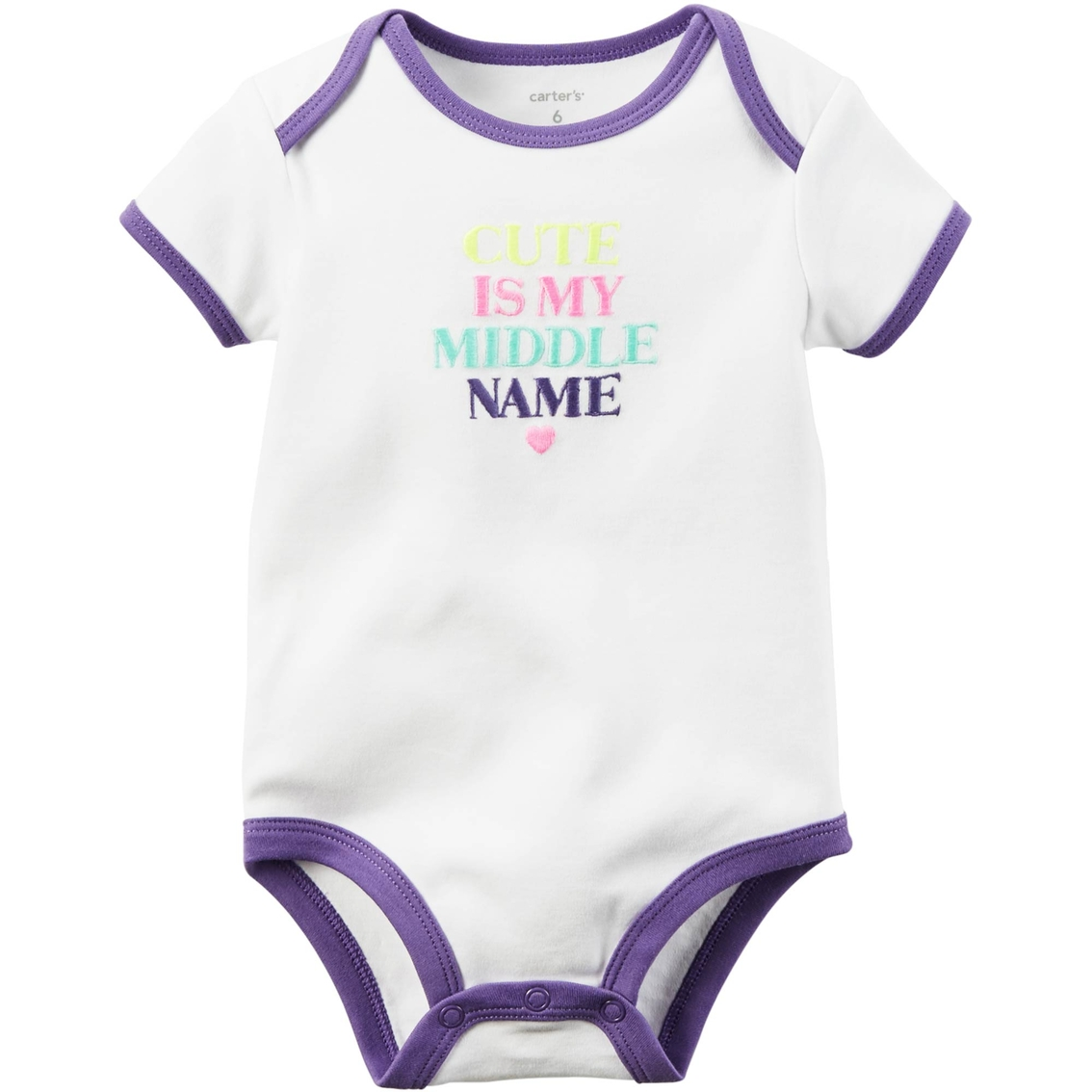 Carters Infant Girls Cute Is My Middle Name Bodysuit