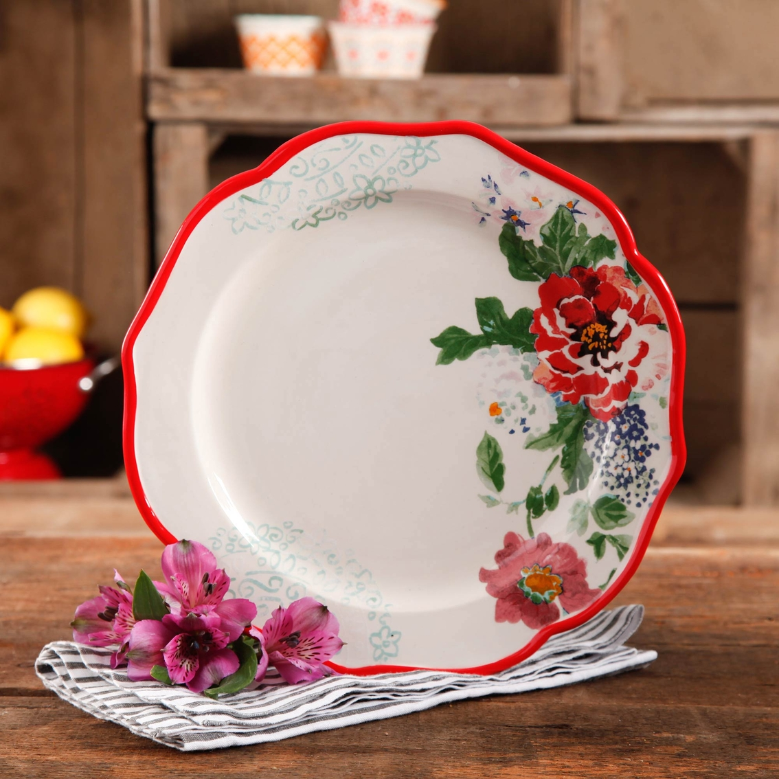 Pioneer Woman Country Garden 10 5 In Dinner Plate Multi