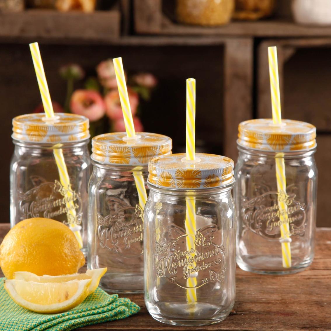 Pioneer Woman 16 Oz Mason Jar 4 Pk Drinking Glasses