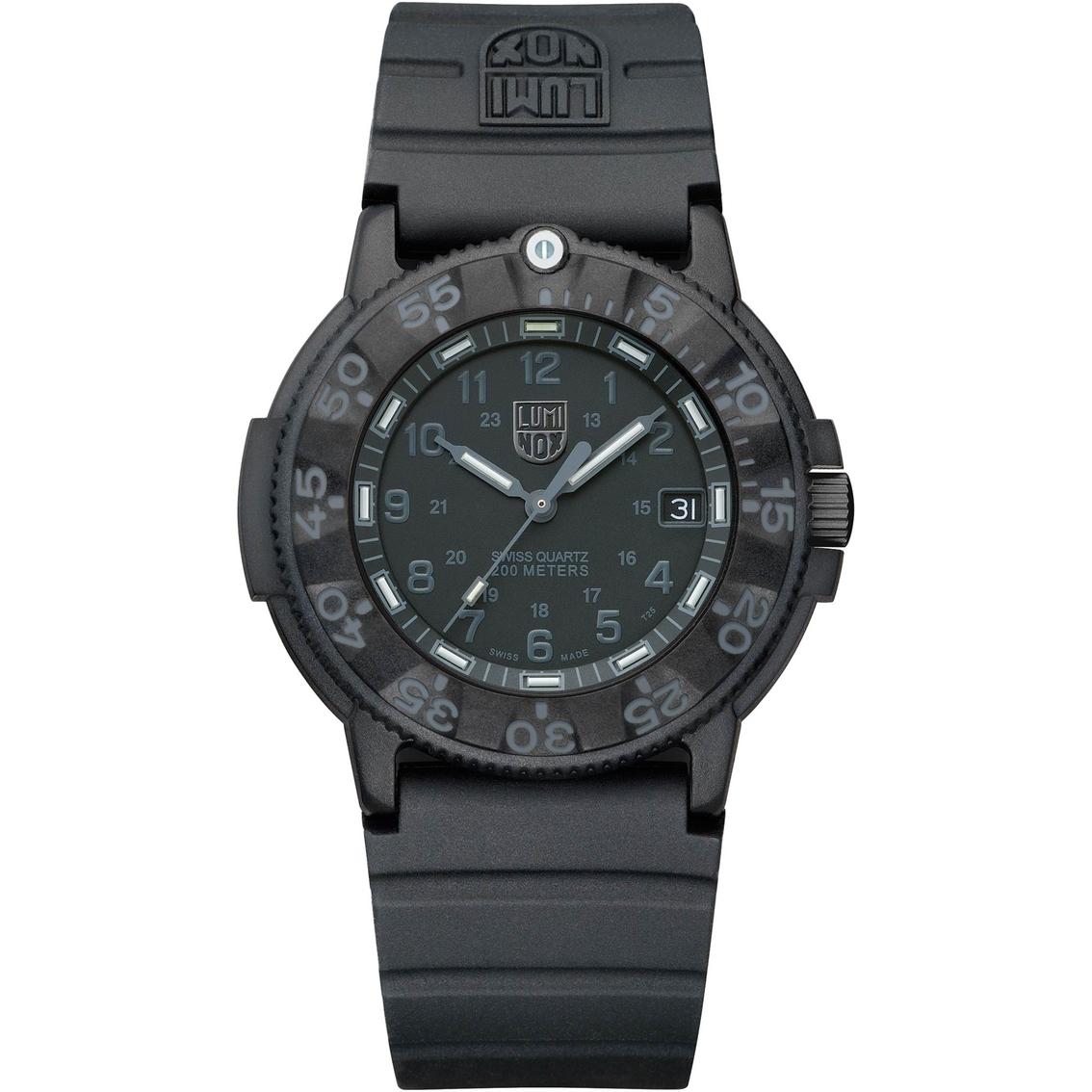 Luminox men 39 s original navy seal dive series 43mm watch 3001lum non metal band jewelry - Navy seal dive watch ...