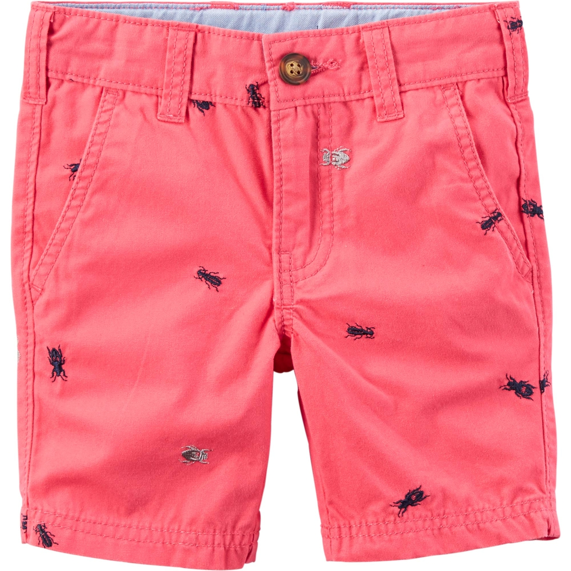 carters little boysboys schiffli twill flat front shorts