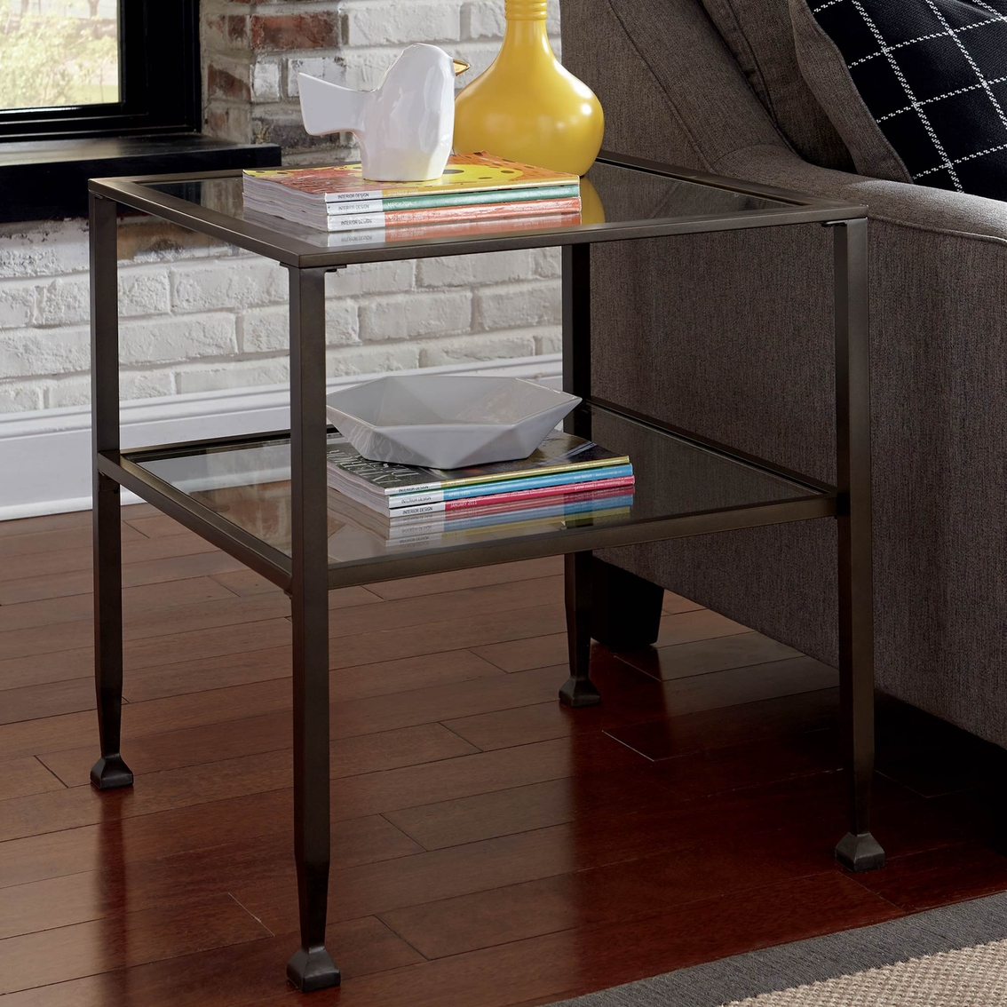 signature design by ashley tivion rectangular end table