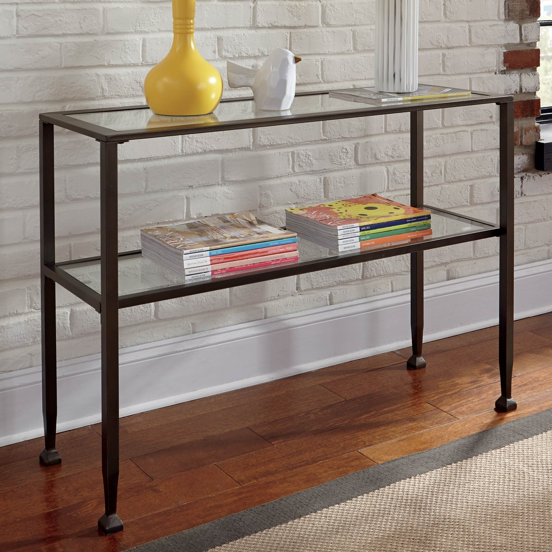 Signature Design By Ashley Tivion Sofa Table, Black Contemporary ...