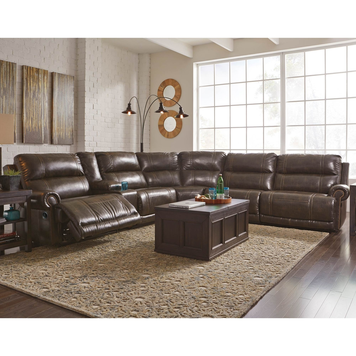 Can You Buy Ashley Furniture Online: Ashley Dak 6 Pc. Power Reclining Sectional