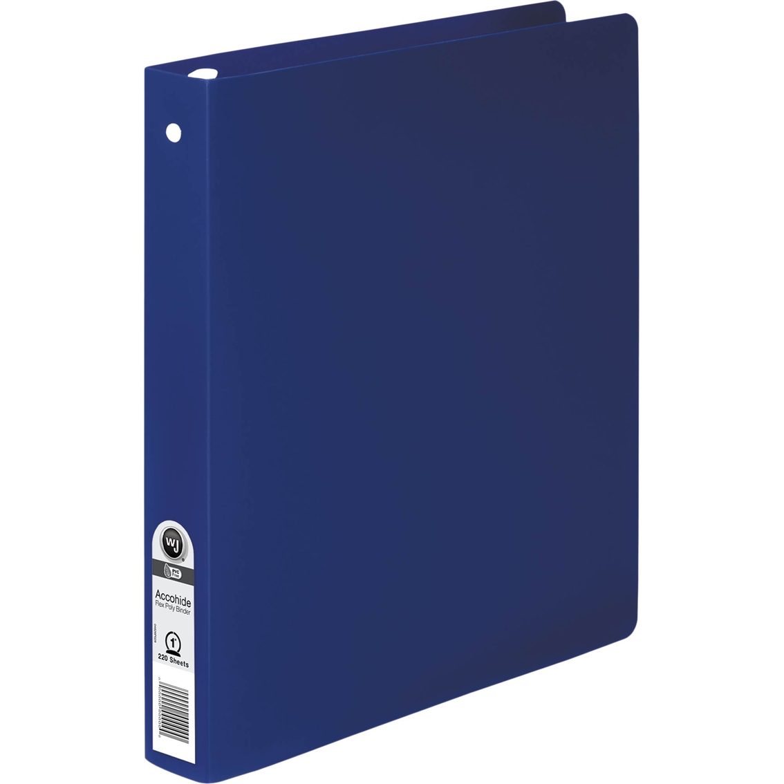 Acco Accohide Poly Round Ring Binder, 35-pt. Cover, 1 In