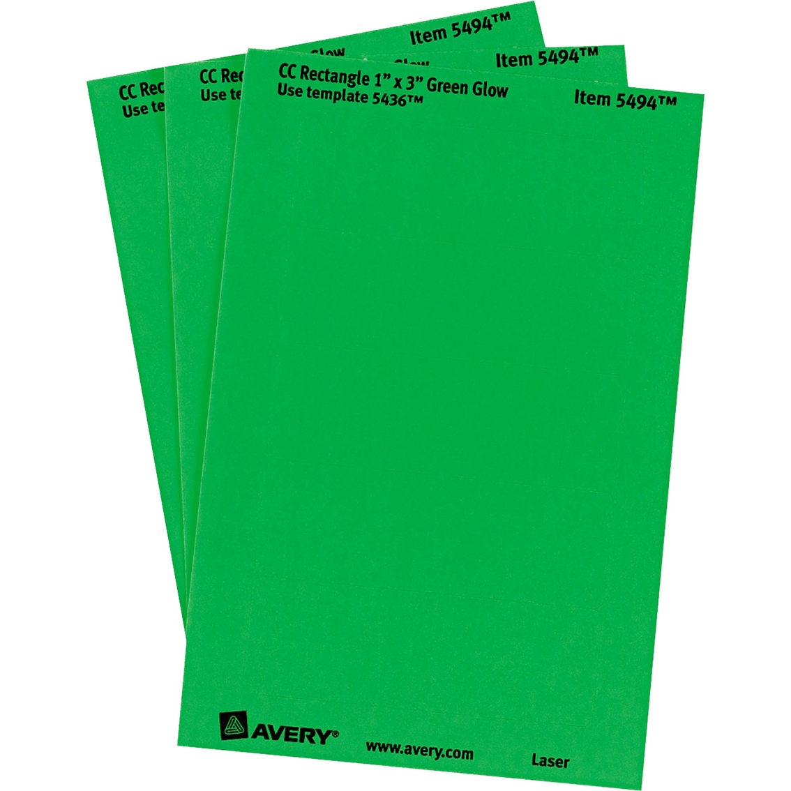 photo about Removable Printable Labels referred to as Avery Printable Detachable Colour-coding Labels, 1 Within. X 3 Inside