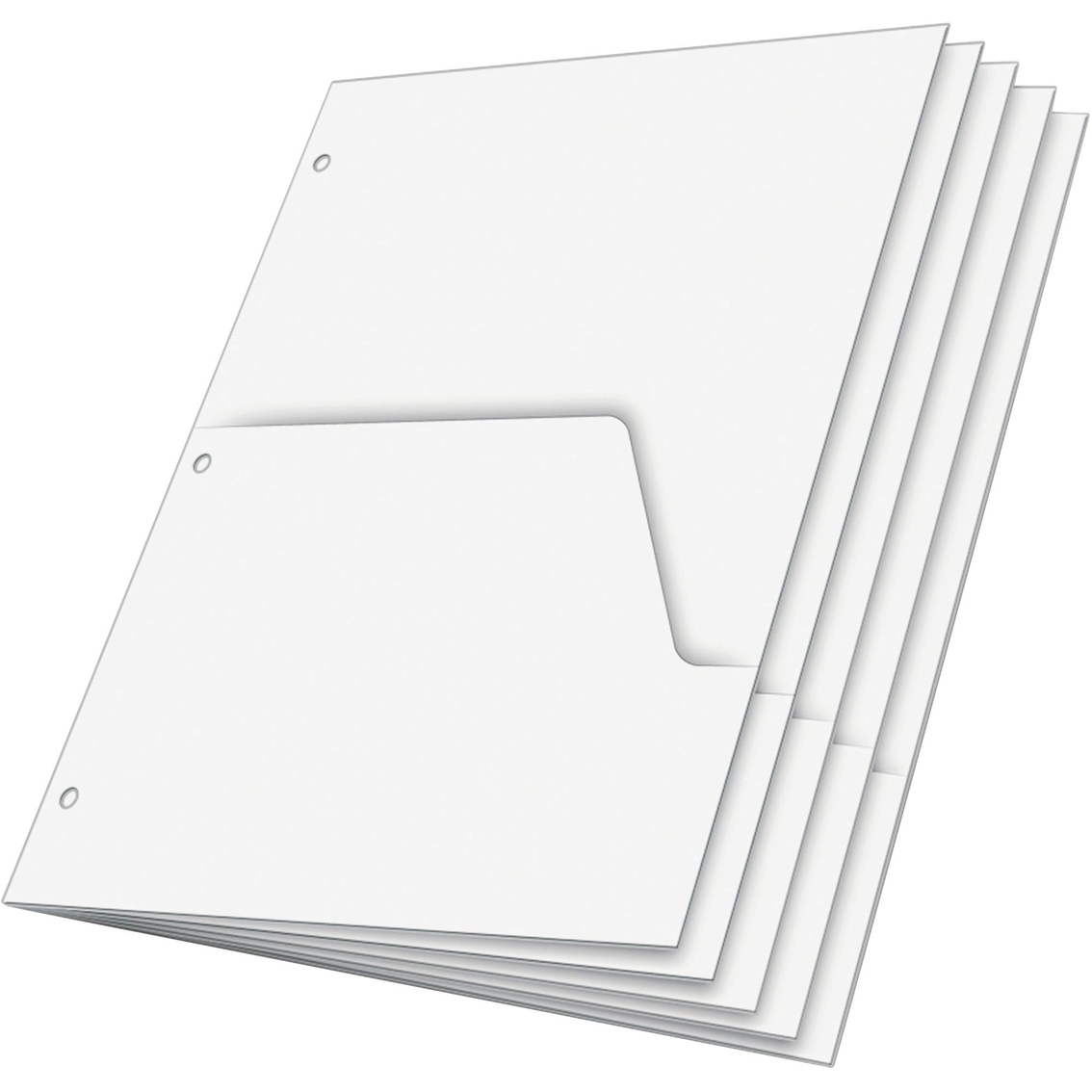 Cardinal Double Pocket White Dividers For Ring Binders 5