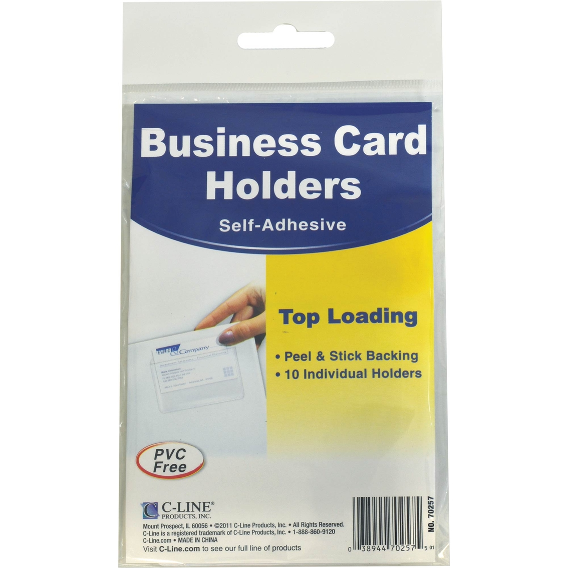 C-line Self-adhesive Business Card Holders | Labels & Label Makers ...
