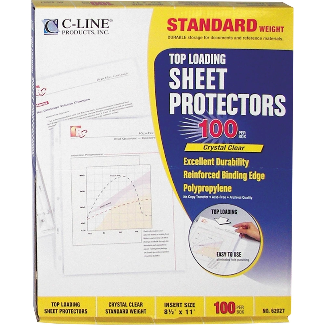 c line clear standard weight polypropylene letter size With letter size sheet protectors