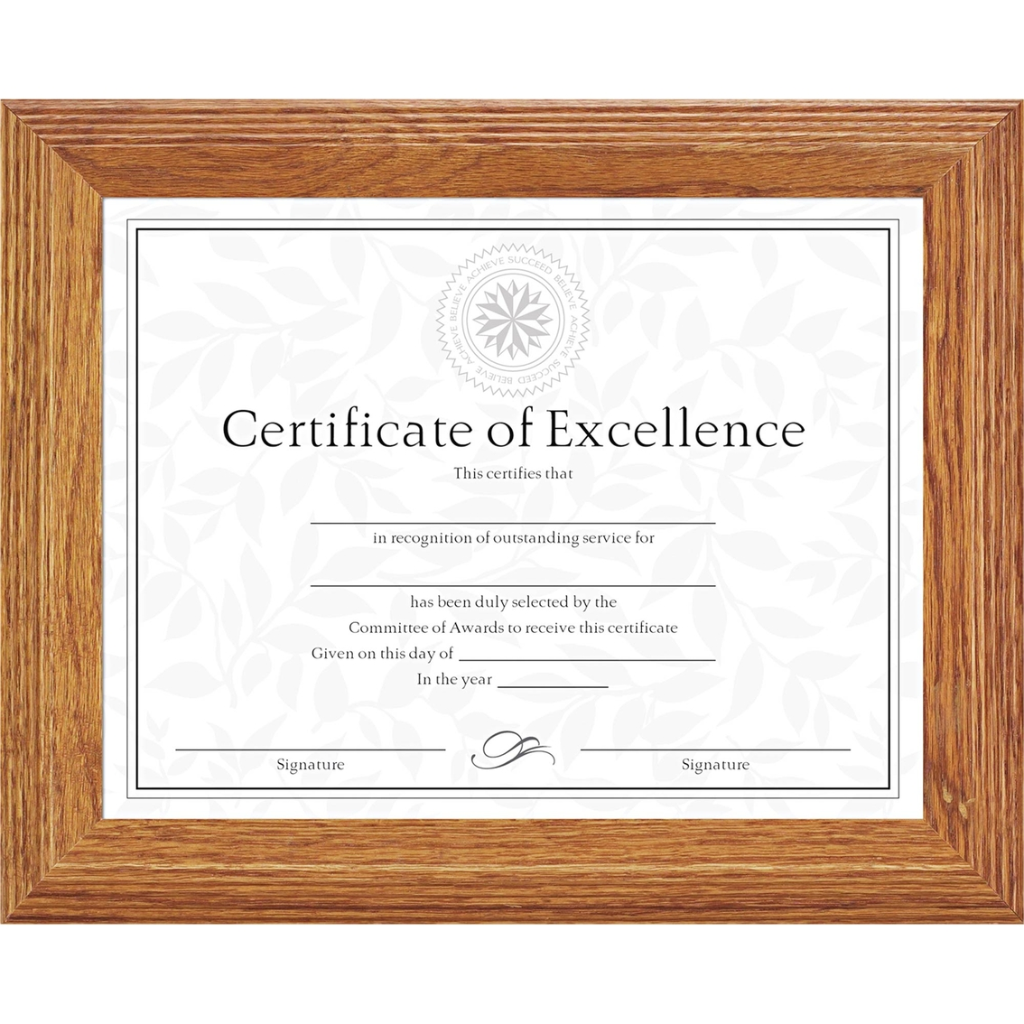 Dax 8 1/2 X 11 In. Stepped Solid Wood Document/certificate Frame ...