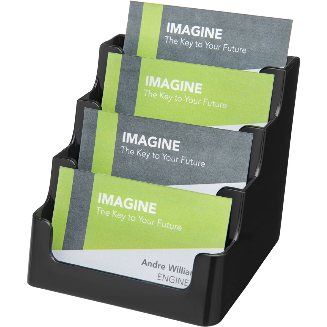 Deflecto sustainable office recycled four pocket 200 capacity deflecto sustainable office recycled four pocket 200 capacity business card holders colourmoves