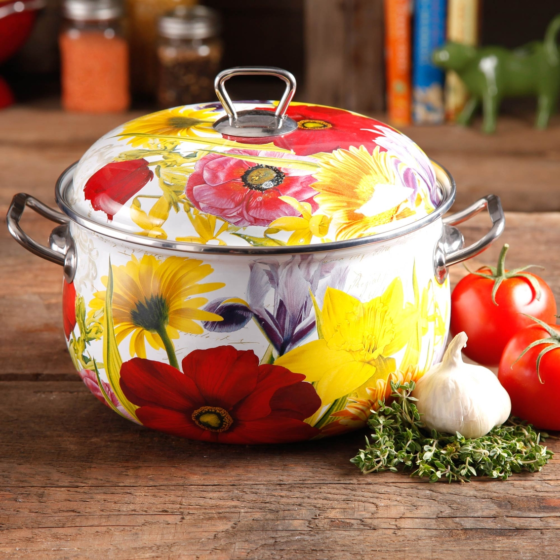 Pioneer Woman 6 Qt Flower Garden Dutch Oven Dutch Ovens