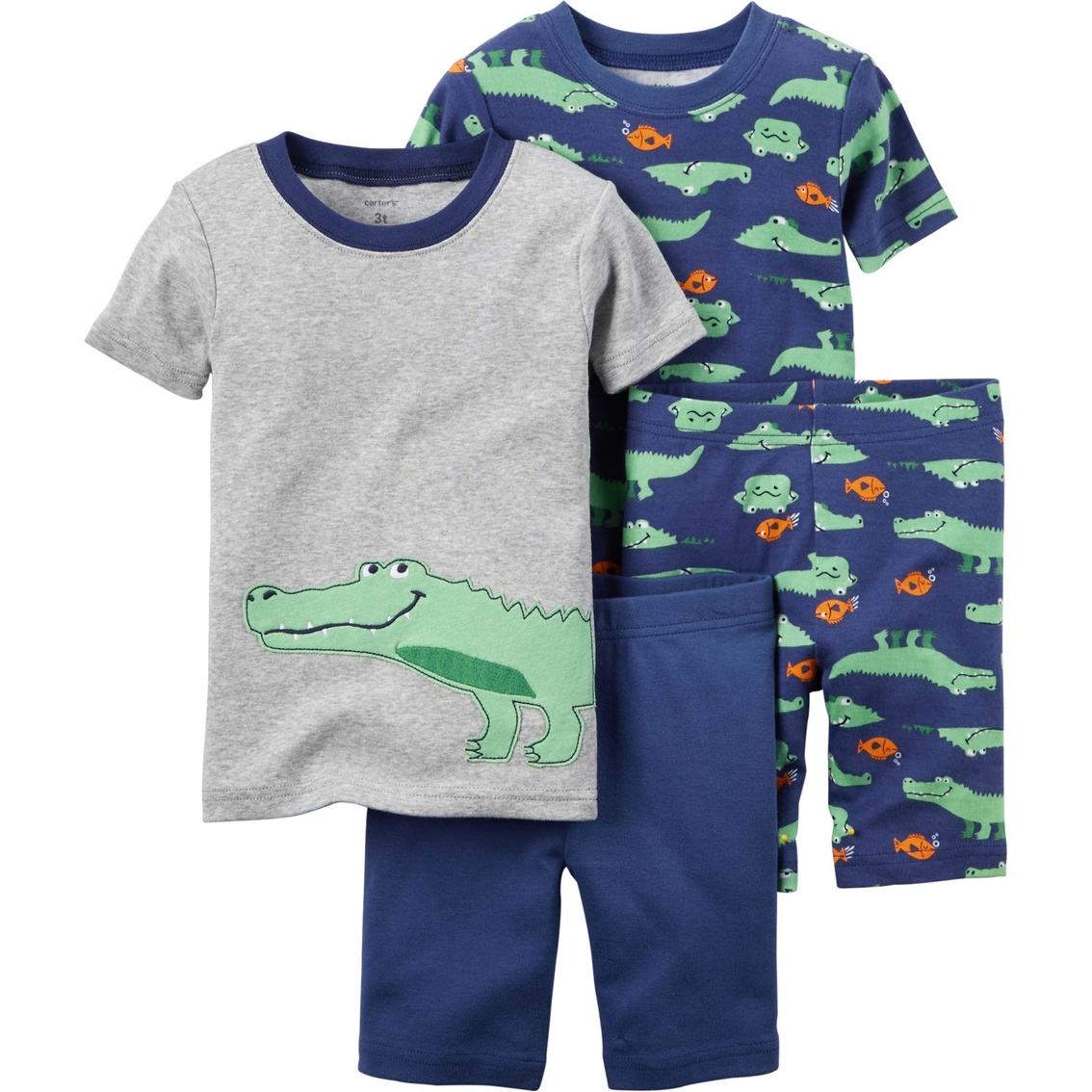 186ea3800837 Carter s Toddler Boys 4 Pc. Alligator Snug Fit Cotton Pajamas ...