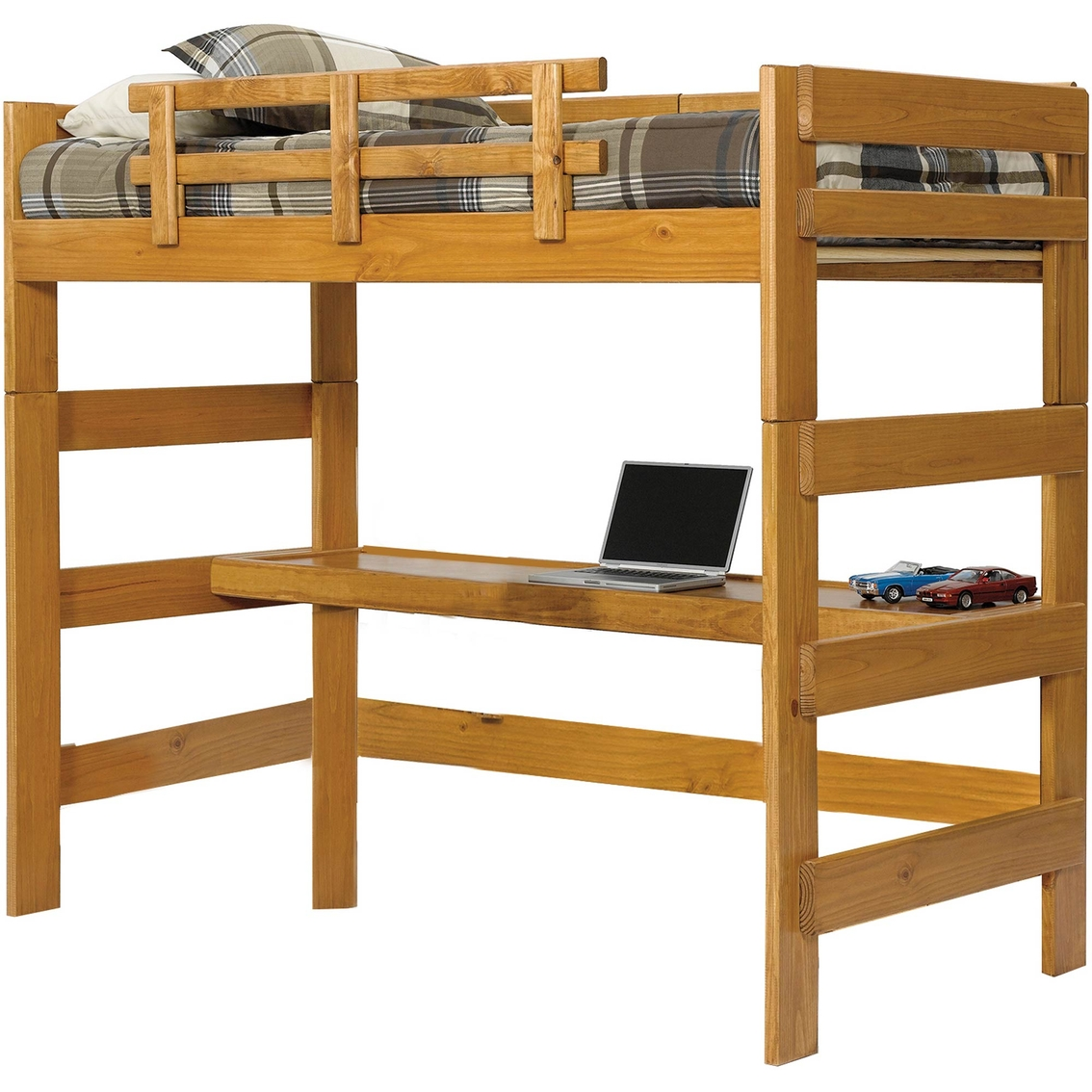 Chelsea Home Furniture Loft Bed With Desk Top Juvenile Beds Shop The Exchange